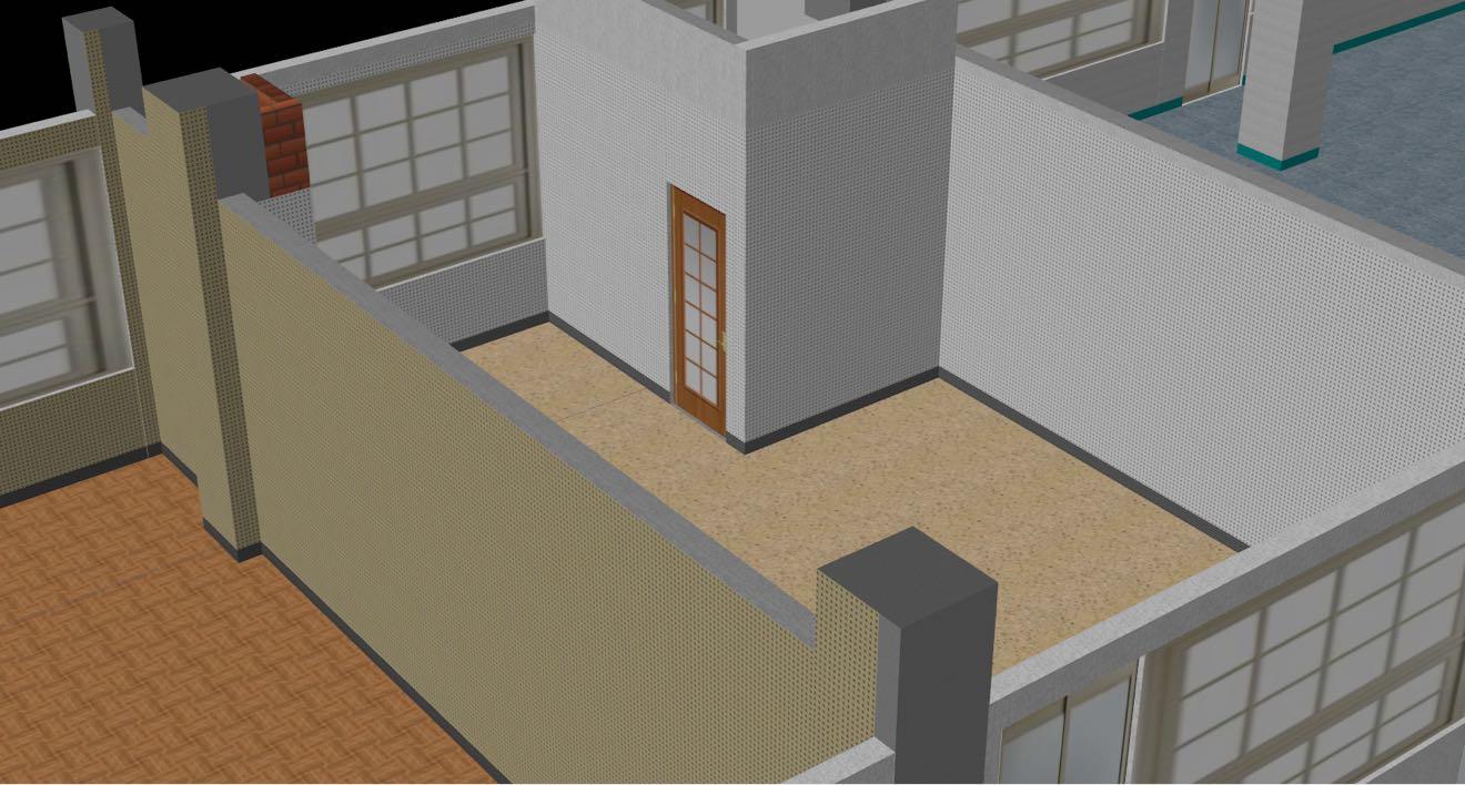 細部檢視-地坪、內牆、踢腳、門窗等材質